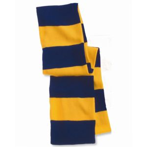 Rugby Striped Knit Scarf Thumbnail