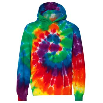 Youth Multi-Color Swirl Hooded Sweatshirt Thumbnail