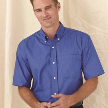 Short Sleeve Stain Resistant Oxford Shirt Thumbnail