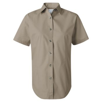 Women's Short Sleeve Stain-Resistant Tapered Twill Shirt Thumbnail