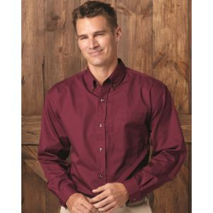 Long Sleeve Stain-Resistant Twill Shirt Thumbnail