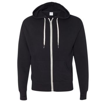 Unisex French Terry Heathered Hooded Full-Zip Sweatshirt Thumbnail