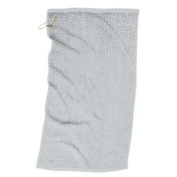 Fringed Fingertip Towel with Corner Grommet and Hook Thumbnail