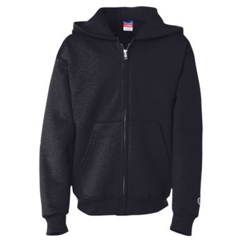 Double Dry Eco Youth Full-Zip Hooded Sweatshirt Thumbnail