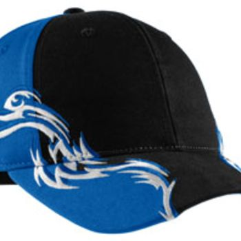 Colorblock Racing Cap with Flames Thumbnail