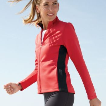 Women's Colorblocked Performance Full-Zip Sweatshirt Thumbnail