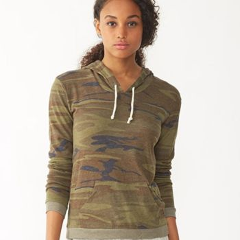 Women's Eco-Jersey™ Classic Hooded Pullover T-Shirt Thumbnail