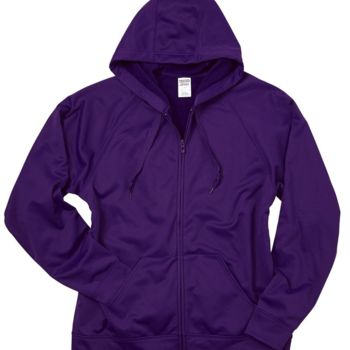 Dri-Power® Sport Hooded Full-Zip Sweatshirt Thumbnail