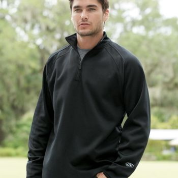 Quarter-Zip Flatback Mesh Fleece Pullover Thumbnail