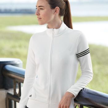 Women's ClimaLite 3-Stripes French Terry Full-Zip Jacket Thumbnail