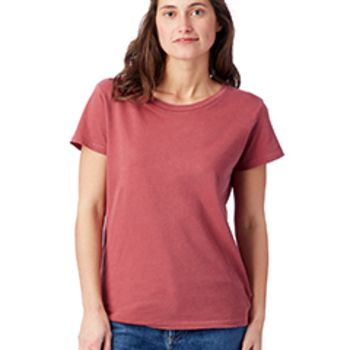 Ladies' Vintage Garment-Dyed Distressed T-Shirt Thumbnail