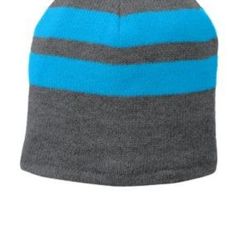 11ce7329 Port & Company Fleece Lined Striped Beanie Cap C922