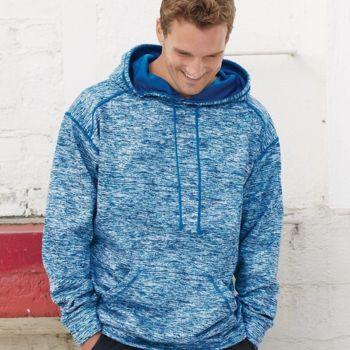Blend Polyester Fleece Performance Hooded Sweatshirt Thumbnail