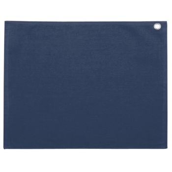 Velour Hemmed Towel with Corner Grommet & Hook Thumbnail