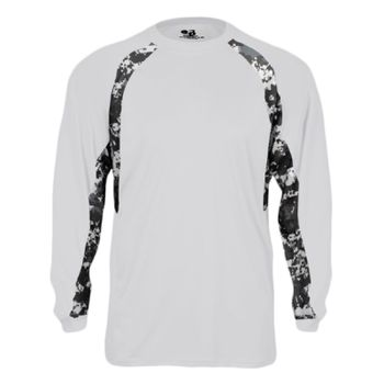 Digital Camo Hook Long Sleeve T-Shirt Thumbnail