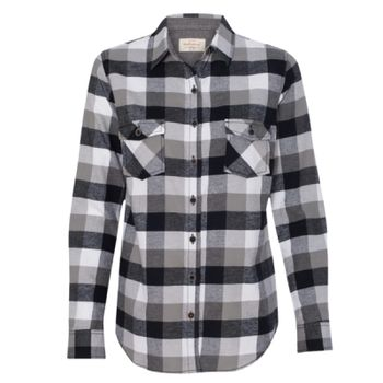 Women's Vintage Brushed Flannel Long Sleeve Shirt Thumbnail