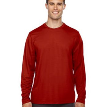 Men's Agility Performance Long-Sleeve Piqué Crewneck Thumbnail