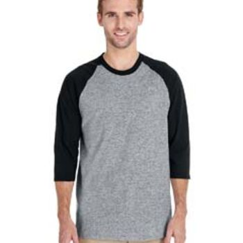 Adult 5.3 oz. 3/4-Raglan Sleeve T-Shirt Thumbnail