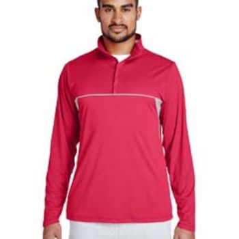Men's Excel Mélange Interlock Performance Quarter-Zip Top Thumbnail