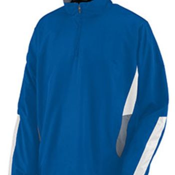 Adult Water Resistant Polyester Diamond Tech Half Zip Pullover Thumbnail