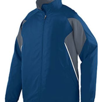 Adult Water Resistant Polyester Diamond Tech Jacket Thumbnail