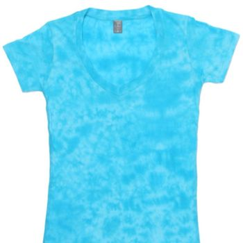 Caitlin Ladies Tie-Dye V-Neck Tee Thumbnail