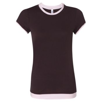 Women's Sheer Jersey 2-in-1 T-Shirt Thumbnail