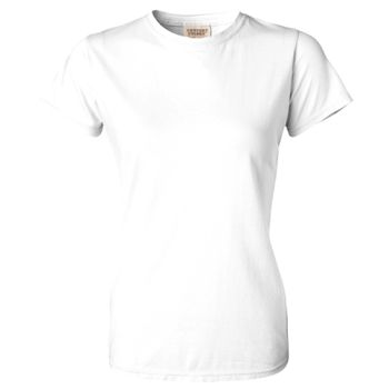 Women's Garment Dyed Lightweight Ringspun Short Sleeve Crewneck T-Shirt Thumbnail