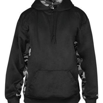 Camo Colorblock Performance Fleece Hooded Sweatshirt Thumbnail