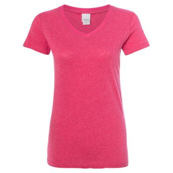 Women's Glitter V-Neck T-Shirt Thumbnail