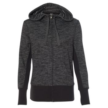 Women's Baja Stripe French Terry Full-Zip Hooded Sweatshirt Thumbnail