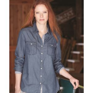 Vintage Women's Denim Long Sleeve Shirt Thumbnail