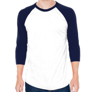 50/50 Poly/Cotton Raglan Three-Quarter Sleeve T-Shirt Thumbnail