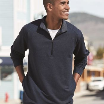 Omega Stretch Terry Quarter-Zip Pullover Thumbnail