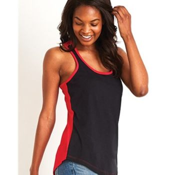 Women's Ideal Colorblock Racerback Tank Thumbnail