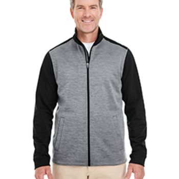 Men's Newbury Colorblock Mélange Fleece Full-Zip Thumbnail