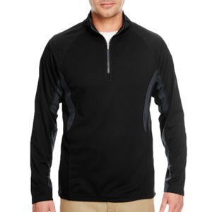Adult Cool & Dry Colorblock Dimple Mesh Quarter-Zip Pullover Thumbnail