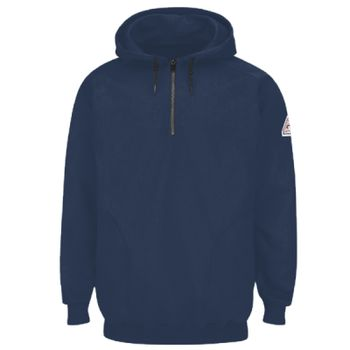 Pullover Hooded Fleece Sweatshirt with 1/4 Zip Thumbnail