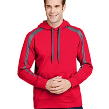 Men's Spartan Tech-Fleece Color Block Hooded Sweatshirt Thumbnail