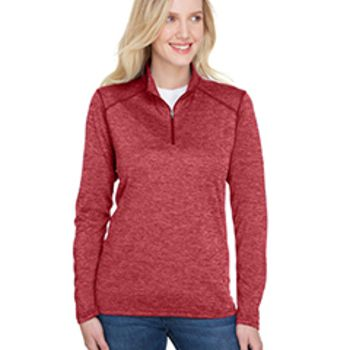 Ladies' Tonal Space-Dye Quarter-Zip Thumbnail