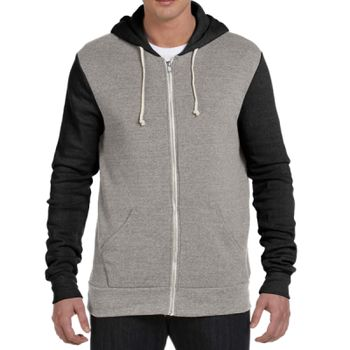 Unisex Rocky Eco-Fleece Colorblocked Hoodie Thumbnail