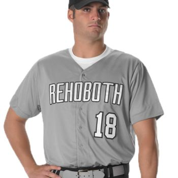 Full Button Lightweight Baseball Jersey Thumbnail