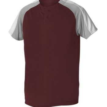 Two Button Henley Baseball Jersey Thumbnail