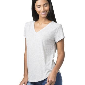 Women's Snow Heather Short Sleeve V-Tee Thumbnail