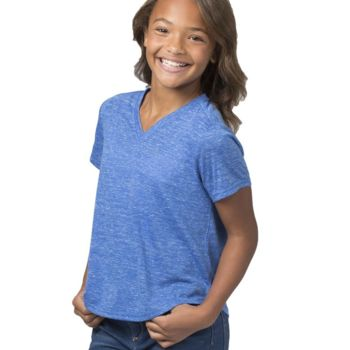 Girls Snow Heather Short Sleeve V-Tee Thumbnail