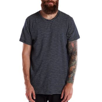 Men's 6 oz. True Indigo Striped Crew Thumbnail