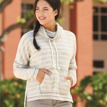 Baja Women's French Terry Cowlneck Pullover Thumbnail