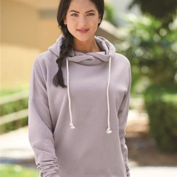 Women's Lounge Fleece Hi-Low Hooded Pullover Thumbnail