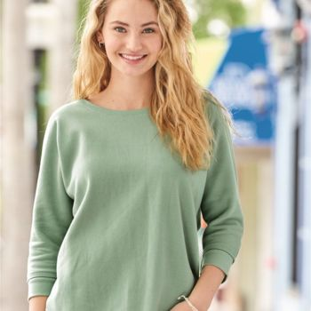 Women's Lounge Fleece Dolman Crewneck Sweatshirt Thumbnail