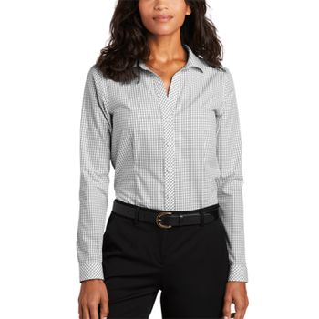 ® Ladies Open Ground Check Non Iron Shirt Thumbnail